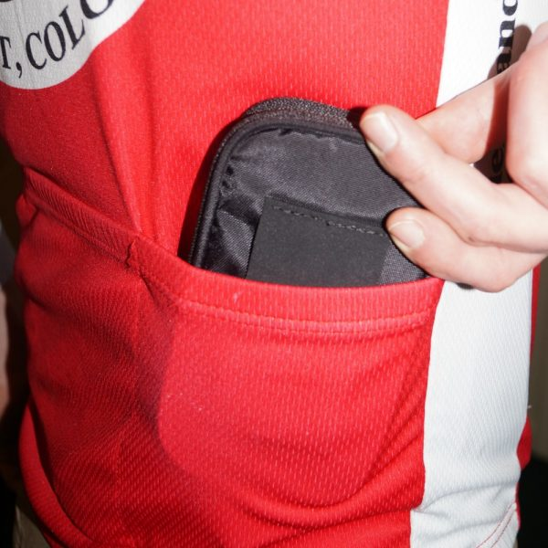 Phone pouch for jersey pocket