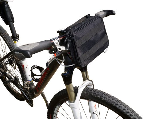 Utility Pack used as handle bar bag