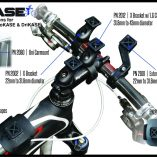 GoKASE by BiKASE attachments: Uni Car Mount, Arm Band, Stem Mount, Stem Cap Mount, Top Tube Mount