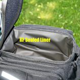 Sealed liner will hold ice, or just makes it easy to clean!